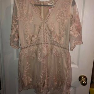 Lace romper from Pink Coconut Boutique